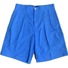 Polo Ralph Lauren Men's Linen Shorts Pleated Size 32