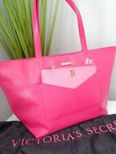 *** BNWT Victoria Secret Rosa Cuero Shopper's Bolso de mano & monedero