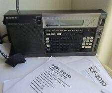 Sony ICF-2010 FM AM Airband Shortwave Vintage Radio, works on batteries, no cord