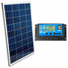 KMG 100W Polycrystalline Photovoltaic Solar Panel w/ Charge Controller 12V
