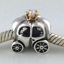 Authentic Pandora Royal Carriage White Pearl 925 Silver Bead Charm 790598P New