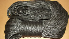 """NEW 3/8""""x 100' Dyneema Winch Line, Synthetic Pulling Rope, 12-Strand Braid"""