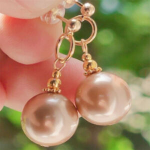 Natural Pearl Rose Earrings eardrop 18KGP Chain MS Gift Holiday gifts Party