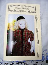 """16"""" French Fashion PATTERN  for Day Dress, Hat"""