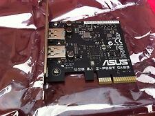 Asus USB 3.1 Card - PCI Express x4 - Plug-in Card - 2 USB Port(s),100% ORIGINAL