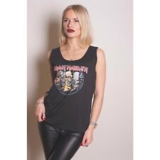 Iron Maiden Evolution Black Ladies Vest T Shirt: Small - Rockoff Trade Womens
