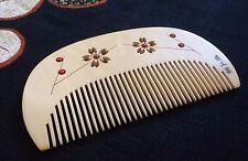 Japanese hair comb Tsuge Boxwood Sakura design handmade with Camellia Oil JAPAN