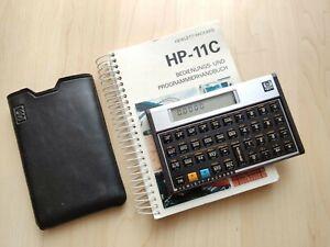 Hewlett Packard HP-11C / RPN Taschenrechner / Handbuch und Tasche / 100% OK