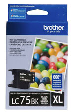 New Genuine Brother LC75BK XL Ink Cartridge MFC-J280W MFC-J5910DW MFC-J6710DW
