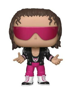 "Pop! WWE #68 Bret ""Hit Man"" Hart Pink Pants FUNKO Vinyl Figure"