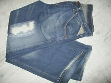 REPLAY Jeans 34/32 Dark BLUE Distressed MEN'S Zip Fly BOOTCUT Relaxed Superb
