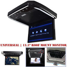 "13.3"" Car Roof Monitor Hd Universal Mount Flip Down Mp5 Overhead Video Fm Player"