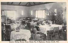 Stoney Creek Ontario Canada Pines Hotel Dining Room Antique Postcard K20757