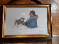 Dorothy Frances Little Pitsolak's Playmate Art Print Framed