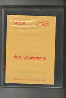 New P.C.S. APPOINTMENTS PROGRAMME For AMSTRAD PCW 8256 & 8512 Computers