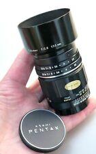 Asahi Pentax TAKUMAR 105mm f2.8 Pre-Set M42 Lens Virtually MINT Cond wHood &Caps