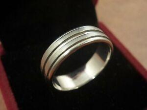 14k 14ct Solid White Gold Ring Band. Size V 6.76g
