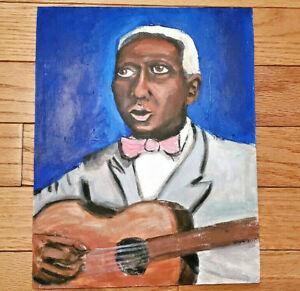 Leadbelly Original Painting Blues Musician Outsider Folk Art