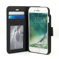 Prodigee Wallegee Black iPhone 7 4.7 2 in 1 Card Wallet Leather Flip Case Cover