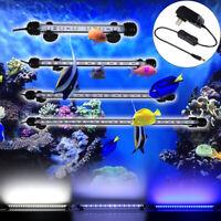 28cm-92cm Aquarium Fish Tank LED SMD RGB White Blue Light Bar Submersible USPlug