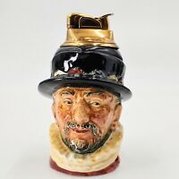Royal Doulton 1946 Beefeater table lighter Toby jug D6233. Pre-owned.