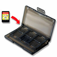 12 x Nintendo Switch Black Game Card Case Holder UK Seller