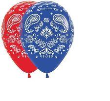 10 Bandana print Balloons party Western cowboy Rodeo horse Favors decor 11inch