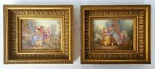 A Pair of Antique Porcelain Plaques Painting