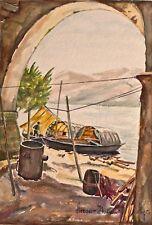 Hornberger - Stresa, Italien - Aquarell - 1955