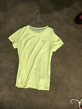 Under Armour Heatgear Yellow T-Shirt in Women's Size Small