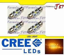 LED Light Canbus Error Free DE3021 3W Amber Orange Four Bulb Dome Map Step
