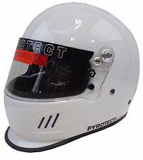 PYROTECT BELL RACING DOT HELMET DUCKBILL IMSA SCCA XXL WHITE SA2010 FULL FACE