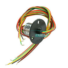 300Rpm Capsule Slip Ring 6 Circuits Wires 12.5mm 2A AC 240V Test Equipment New