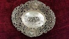 Antique 800 Silver Reposse Tray Depicting Children with Flower Basket