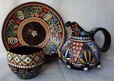 3 PIECES OF ANTIQUE THOUNE / THUN  SWISS POTTERY