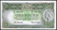 Australia, 1961 One Pound, £1, Coombs/Wilson, Mc52/R34b - Unc