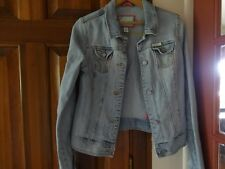 HOLLISTER Womens Jean Lighter Blue Denim Short Jacket Coat Size L