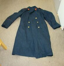 ROMANIA Military Surplus Wool Overcoat Navy XL