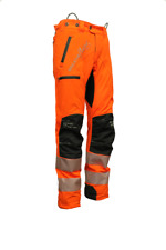 Arbortec Breatheflex Pro Chainsaw Trousers Type C - Hi Viz Orange