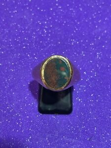 Vintage Heavy 9ct Gold Bloodstone Ring