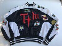 Vintage Thierry Mugler ACTIV 1980's Avant Garde Soccer Logo Varsity Jacket RARE