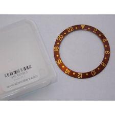 Inserto ghiera Rolex GMT Master marrone indici oro lunetta 16758 Bezel insert