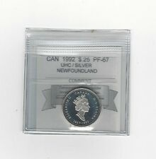**1992 Newfoundland**, Coin Mart Graded Canadian, 25 Cent, **PF-67 UHC Silver**