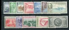 Barbados KGVI 1950 set of 12  SG271/82 MLH