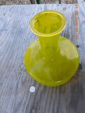 VINTAGE YELLOW ART GLASS VAISE