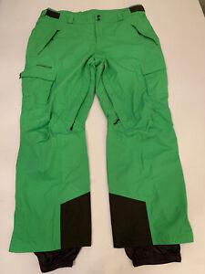 Columbia Mens Omni Tech Titanium Lime Green Snow Ski Pants XXL 2XL EUC