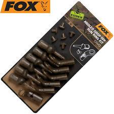 Edges Silicone Sleeves 3mmx25mm Trans Khaki Fox Karpfen angeln Zubehör