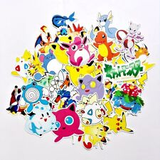 60Pcs/Set Pokemon Stickers Mix Lot Pikachu Laptop Skateboard Stickers US Seller