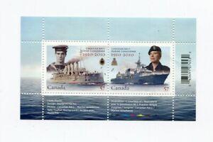 Canada 2010 - Canadian Navy Centennial MNH Souvenir Sheet
