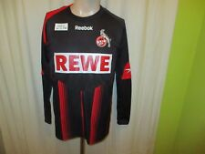 """1.FC Köln Reebok Langarm Auswärts Spieler Version Trikot 2009/10 """"REWE"""" Gr.S Neu"""